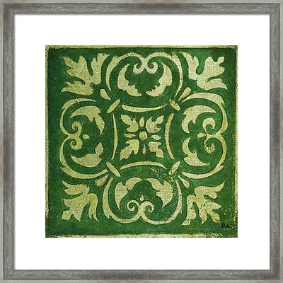 Emerald Mosaic Framed Print