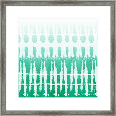 Emerald Ombre  Framed Print by Linda Woods