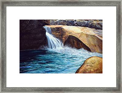Emerald Pool Framed Print by Frank Wilson