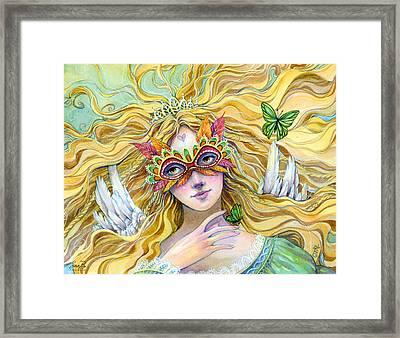 Emerald Princess Framed Print by Sara Burrier