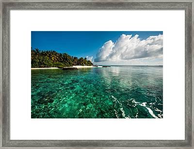 Emerald Purity. Kuramathi Resort. Maldives Framed Print by Jenny Rainbow