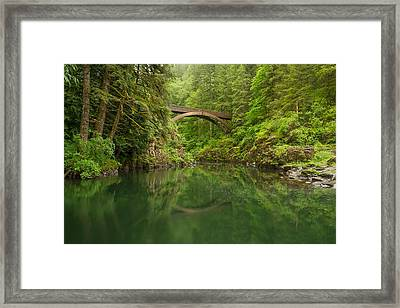 Emerald Reflections Framed Print