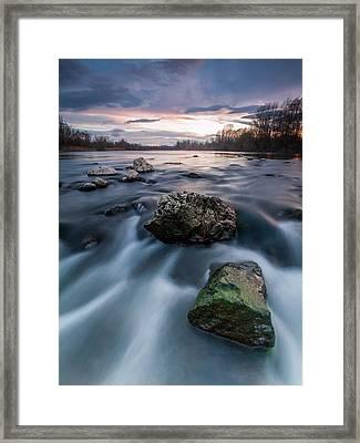 Emerald Rock Framed Print by Davorin Mance