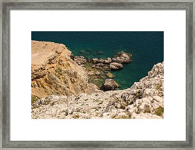 Emerald Sea Framed Print by Davorin Mance