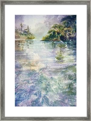 emerald Stream Framed Print by Patrice Pendarvis