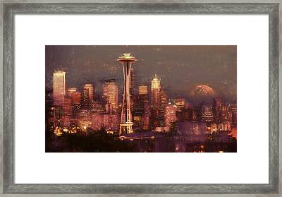 Emerald Twilight Framed Print