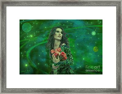 Emerald Universe Framed Print by Michael Rucker