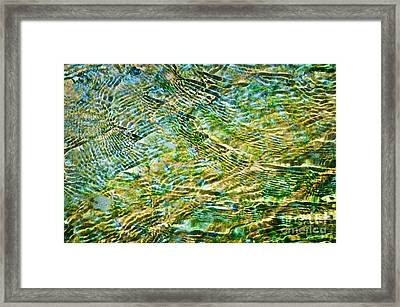 Emerald Water Framed Print by Delphimages Photo Creations