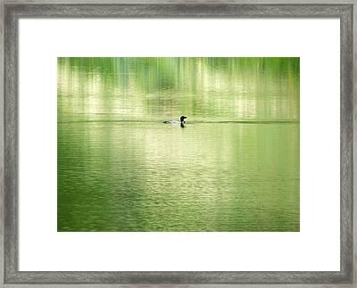 Emerald Water Framed Print by Ramona Johnston