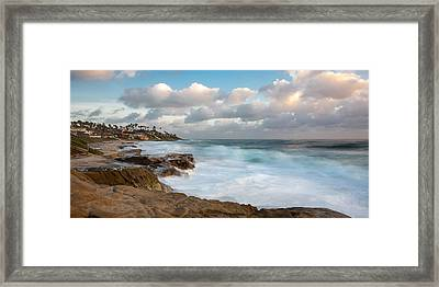Emerald Waters - Blue Skies Framed Print by Peter Tellone