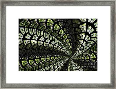 Emerald Whirl. Framed Print by Clare Bambers