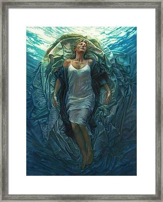 Framed Print featuring the painting Emerge Painting by Mia Tavonatti
