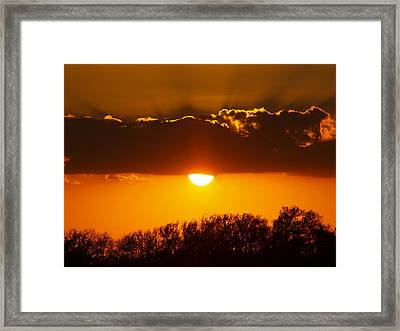 Emergence Of A Golden Sun Framed Print by James Granberry