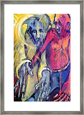Emergence Of God The Father Framed Print by Kenneth Agnello