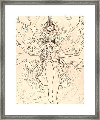 Emergence Sketch Framed Print by Coriander  Shea