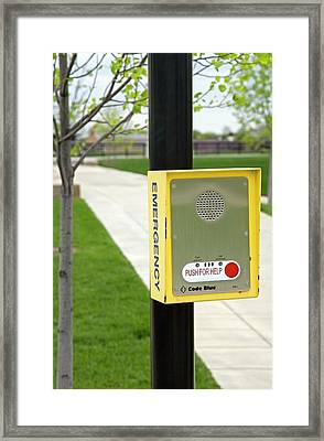 Emergency Call Box Framed Print