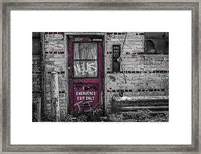 Emergency Exit Framed Print
