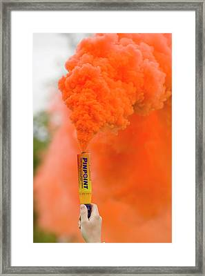 Emergency Flare Framed Print by Ashley Cooper