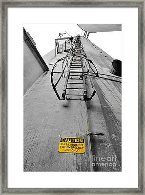 Emergency Ladder Only Framed Print by Lynda Dawson-Youngclaus