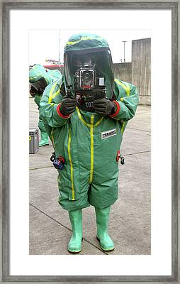 Emergency Response Training Photography Framed Print by Public Health England