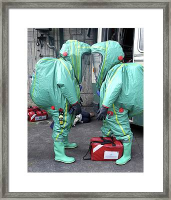 Emergency Ventilation Framed Print