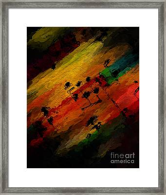Framed Print featuring the digital art Emerging Motive by Lon Chaffin