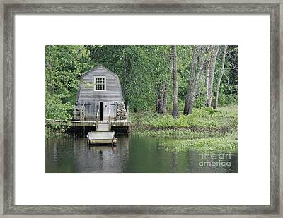 Emerson Boathouse Concord Massachusetts Framed Print by Amy Porter
