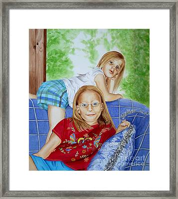 Emi And Mackenzie Framed Print