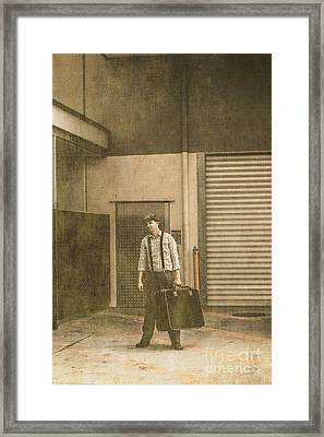 Emigrant Factory Worker Relocating Abroad Framed Print