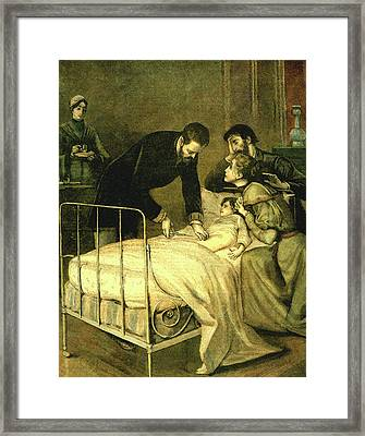 Emile Roux Treating Croup Framed Print