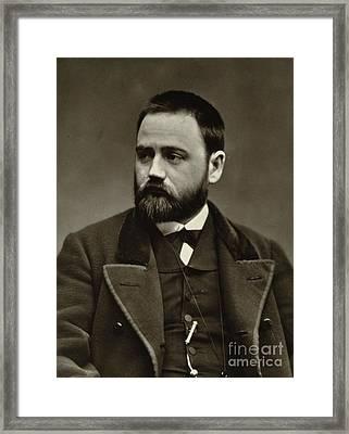 Emile Zola Framed Print by Etienne Carjat
