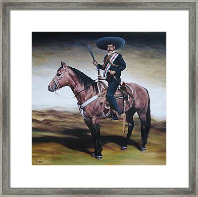 Emiliano Zapata 6x6 Ft Framed Print by Paco Leal