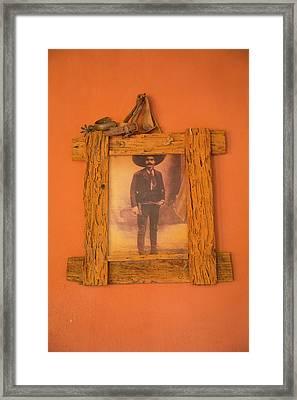 Emiliano Zapata Photograph, El Tuito Framed Print by Douglas Peebles