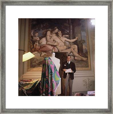 Emilio Pucci By A Fresco Framed Print