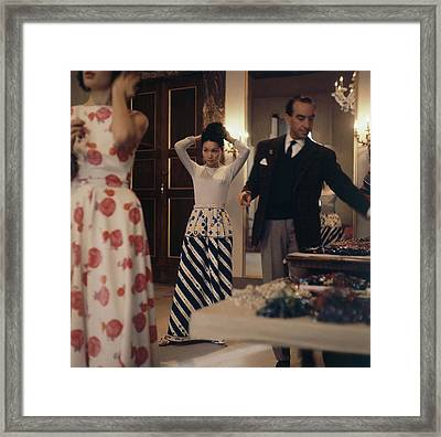 Emilio Pucci With Models Framed Print by Horst P. Horst