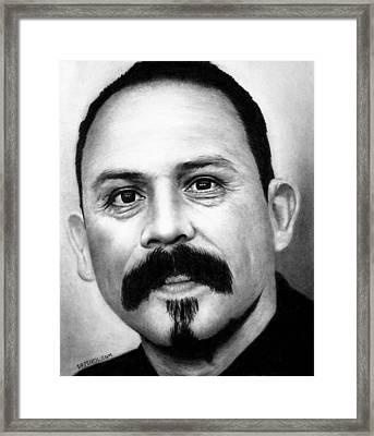 Emilio Rivera - Marco Alvarez Framed Print by Rick Fortson