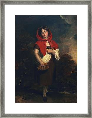Emily Anderson Little Red Riding Hood Framed Print by Thomas Lawrence