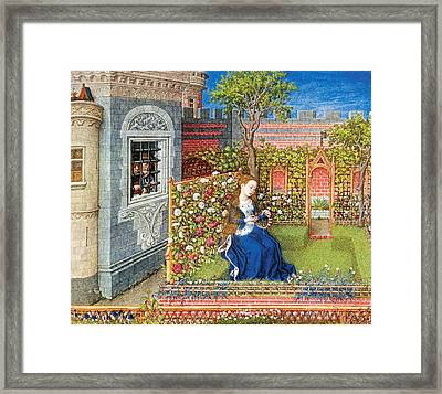 Emily In The Garden Framed Print by Unknow