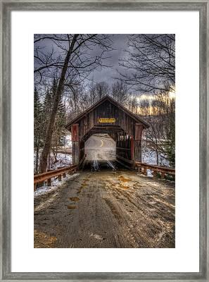 Emily's Bridge - Stowe Vermont Framed Print by Joann Vitali