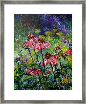 Framed Print featuring the painting Emily's Flowers by Lou Ann Bagnall