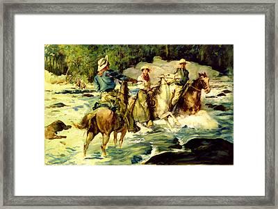 Emilys Horse Wrangler Framed Print by Thomas Fogarty