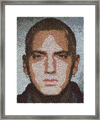 Eminem M And M Candy Mosaic Framed Print