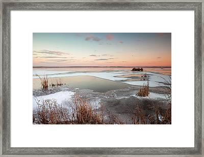 Emiquon Sunset Framed Print