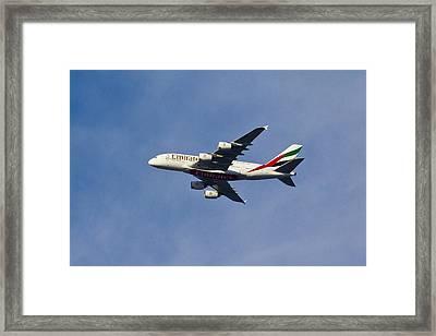Emirates A380 Framed Print