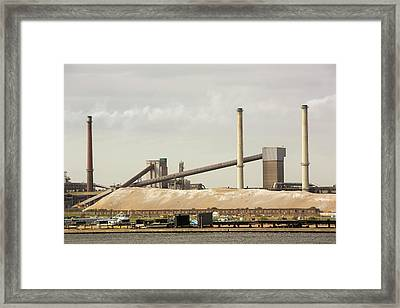 Emissions From A Steel Works Framed Print