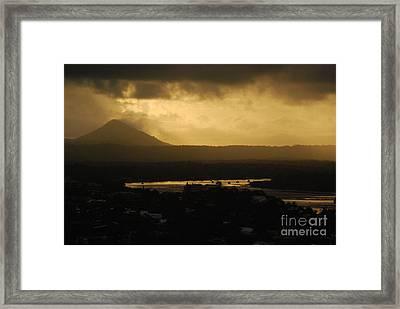 Emitting Dusk Framed Print by Susan Hernandez