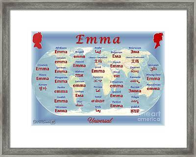 Emma Framed Print by J McCombie