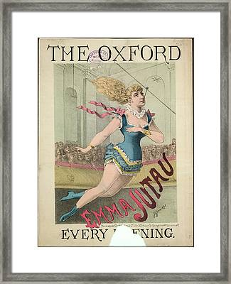 Emma Jutau Framed Print by British Library