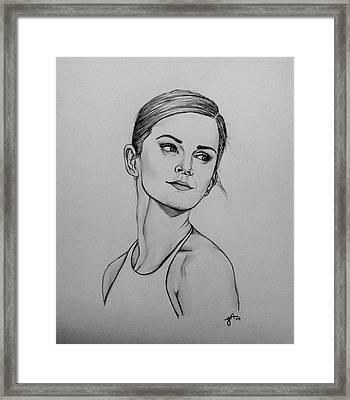 Emma Watson Framed Print by Jeszy Arnold