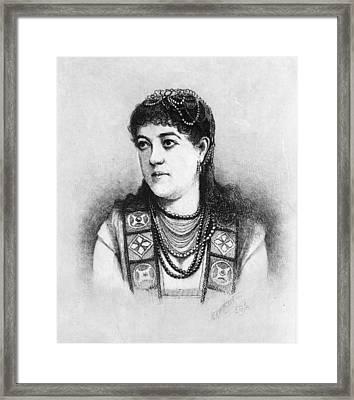 Emma Wixom Nevada(1859-1940) Framed Print by Granger